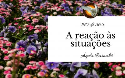 A reação às situações – 190 de 365