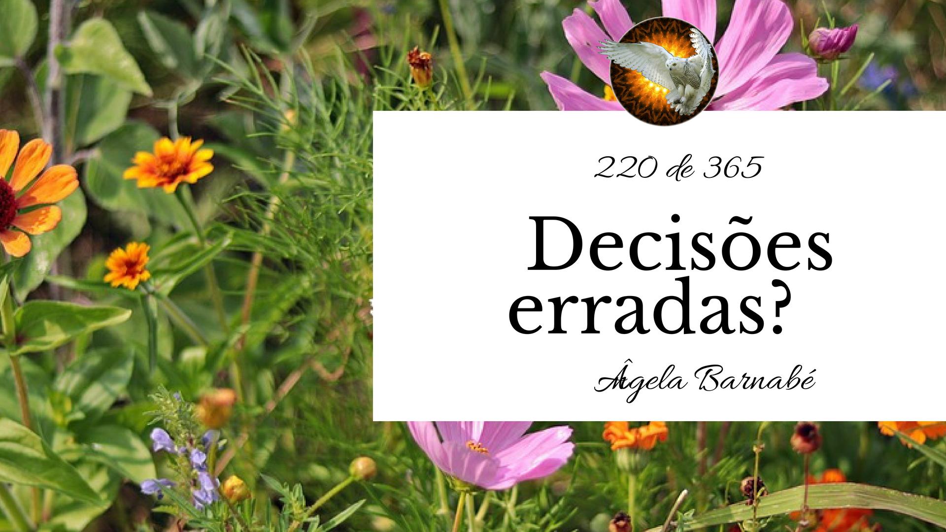 decisões erradas