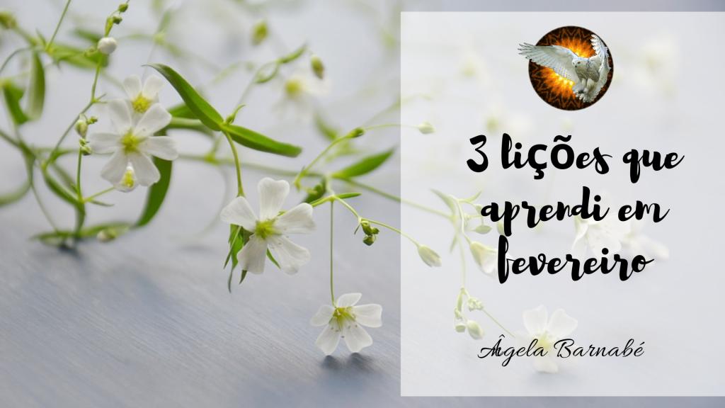 3 lições que aprendi em fevereiro de 2019